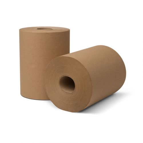 roll of brown paper towels